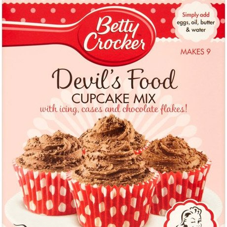 A packet of devil's food cupcake mix