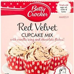 A packet of Red Velvet cupcake mix