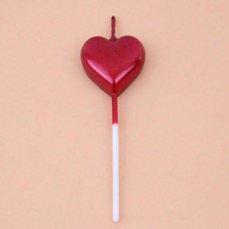 Single Heart Shaped Cake Candle