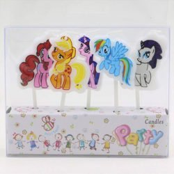 A packet of my Little Pony birthday cake Candles