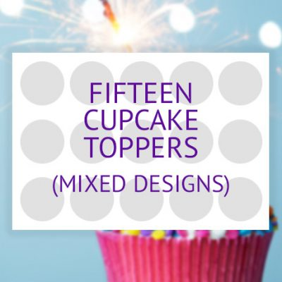 15 cupcake toppers product (single design)