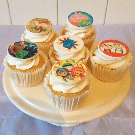 Children's characters vanilla cupcakes