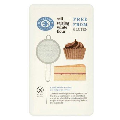 A packet of gluten free self raising white flour