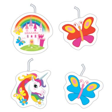 Unicorn & Butterfly Cake Party Candles