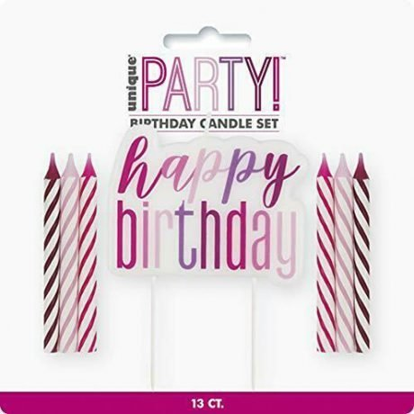 Happy Birthday Candle in PINK
