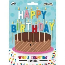 image of multi coloured birthday candles
